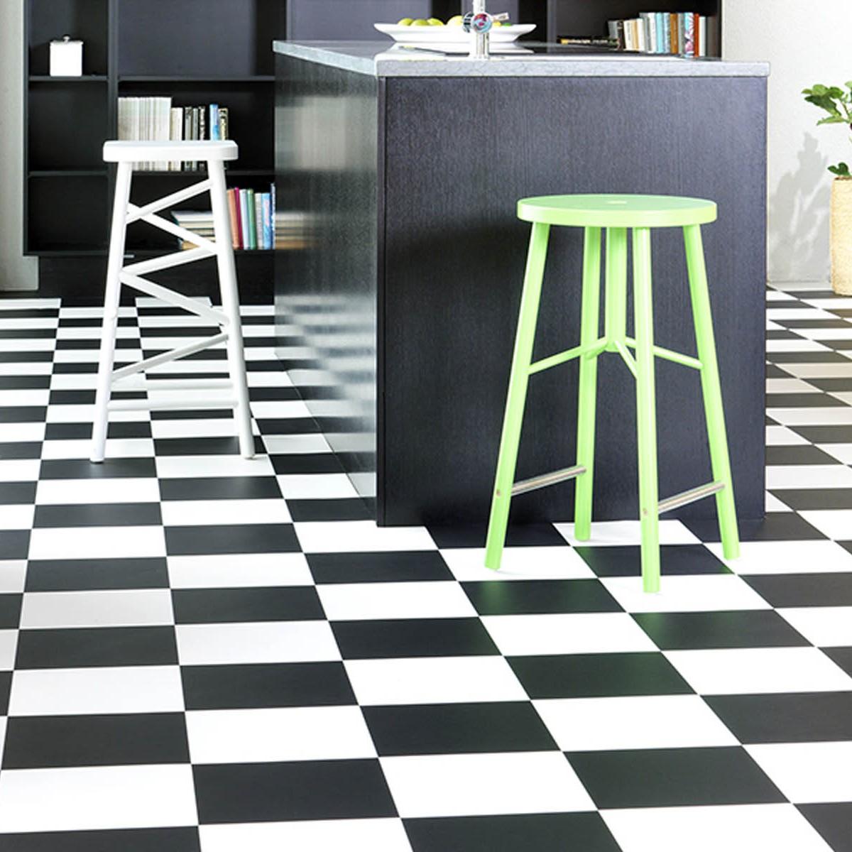 Gulvbelegg Gerbad Damier 0015 black&white