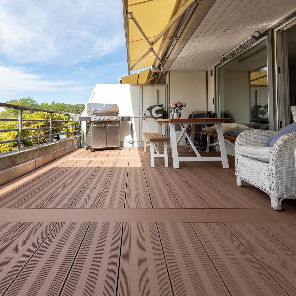 Terrassebord XXL Kompositt Stavern brun